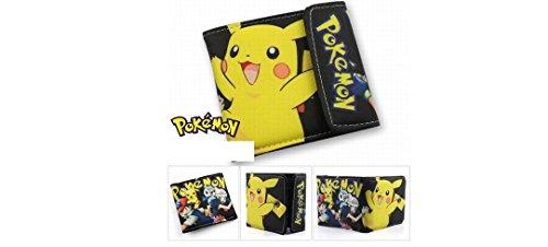 Pokemon Pikachu Black Bifold Snap Wallet