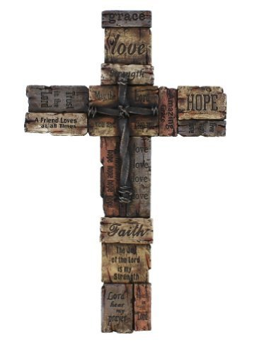 Beautiful Wall Cross with Sayings, Realistic Wood Texture with Cross in - Beautiful Cross