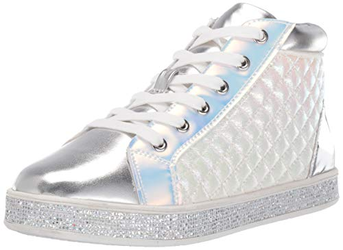 Steve Madden Girls' JCAFFIRE Sneaker, White, 2 M US Little Kid