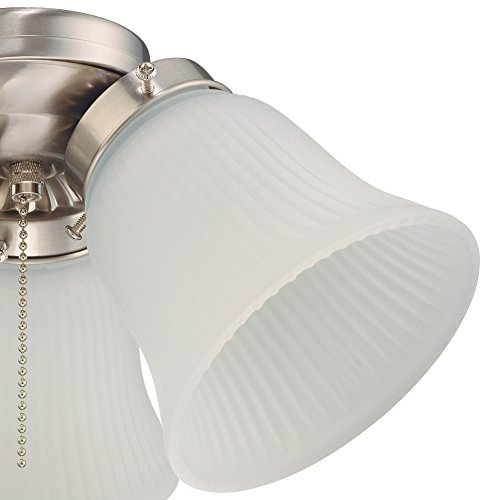 Westinghouse Lighting 7784900 Three LED Cluster Ceiling Fan Light Kit, Brushed Nickel Finish with Frosted Ribbed Glass, White by Westinghouse Lighting (Image #5)