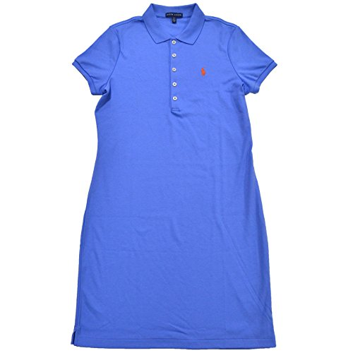 Polo Ralph Lauren Womens Interlock Dress (M, Blue Orange - Polo Ralph Lauren Blue Orange And