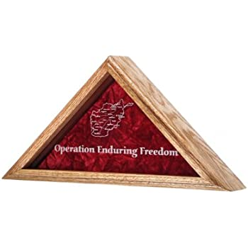 .com - all american gifts freedom flag display case - for 5x8 ...