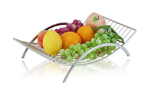 Decorative Fruit Plate - Countertop Fruit Basket Holder and Decorative Bowl Stand, Perfect for Fruit, Vegetables, Snacks, Household Items, and Much More
