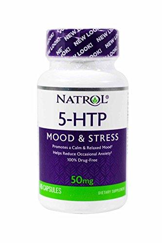 Natrol 5 HTP 50mg Capsules Pack
