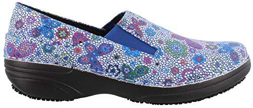 Spring Step Women's Ferrara Work Shoe,Blue Butterfly Flower Print Faux Leather,11 B(M) US