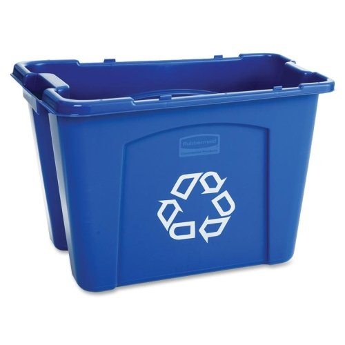 Rubbermaid Stackable Recycling Box - 14 gal Capacity - Rectangular - 14.8