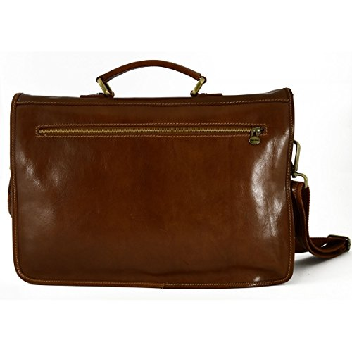 Cartella Professionale In Vera Pelle Con Tasche Interne Colore Marrone - Pelletteria Toscana Made In Italy - Business