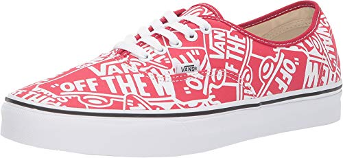 Vans Mens U Authentic OTW Repeat RED True White Size 9.5 (Red Vans Shoes Men)