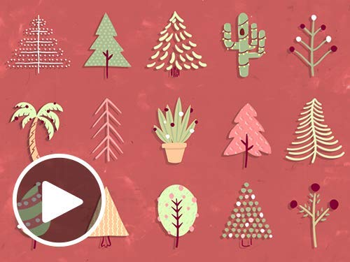 Festive Trees - Animated eGift Card