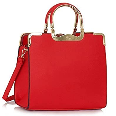 New Womens Designer Bags Ladies Fashion Handbags Tote Shoulder Faux Leather  Celebrity Style  Amazon.co.uk  Shoes   Bags ceff5bf8f4