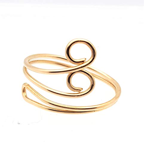 Toe Ring Swirl - 14 Kt Gold Filled or Sterling silver - Adjustable