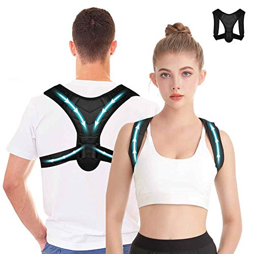 Posture Corrector for Women and Men-Upper Back Support Brace,Back Brace for Chiropractic Pain Relieving Posture Brace for Neck and Shoulders Back Straightener Go Upright Posture Trainer