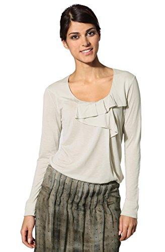 Daniel Hechter Damen T-Shirt Modal Shortsleeve Unifarben, Größe: 40, Farbe: Grau