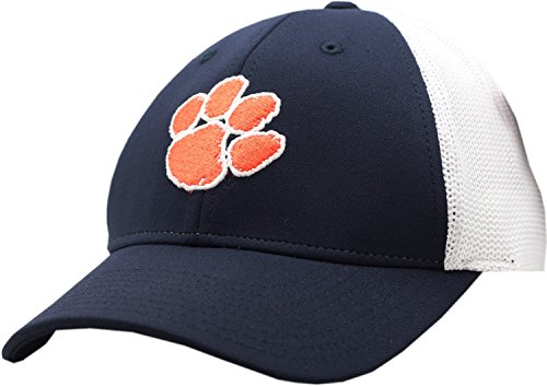 Clemson Tigers 2-Tone Mesh Fitted Cap (Small) American Needle Embroidered Cap
