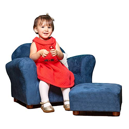 Keet Roundy Childrens Chair Microsuede with Ottoman, -