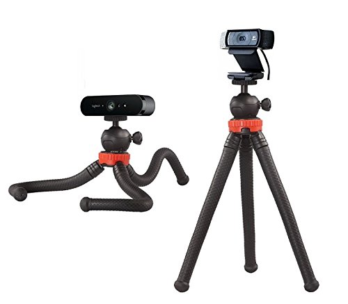 12'' Flexible Camera Tripod Stand Mount for Logitech Webcam Brio 4K, C925e,C922x,C922,C930e,C930,C920,C615 by AceTaken