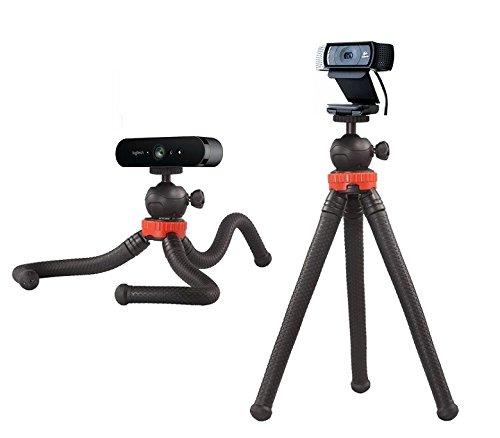 12' Flexible Camera Tripod Stand Mount for Logitech Webcam Brio 4K, C925e,C922x,C922,C930e,C930,C920,C615