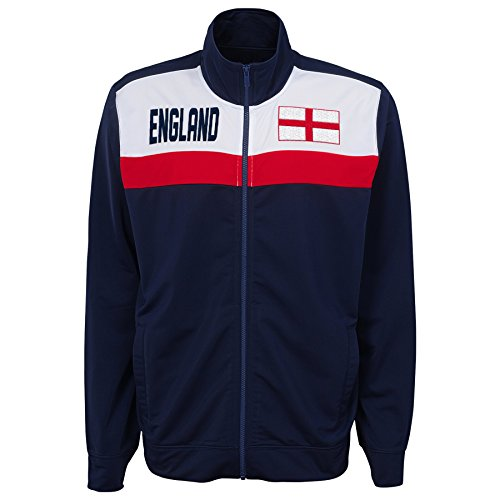 Outerstuff International Soccer England Track Jacket, Medium, Navy