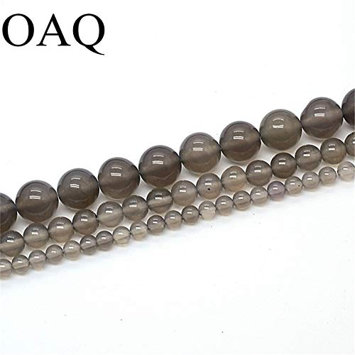 Pukido Natural Beads Smooth Translucent Brown Round Stone Hot Sell DIY Necklace for Women Cornelian Beads for Jewelry Making - (Item Diameter: ()