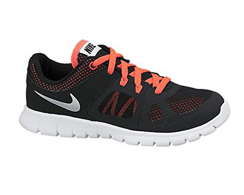 Nueva Nike Flex 2014 Run zapatos atléticos Negro / hiper Perforar 10.5 Black/White/Hyper Punch/Metallic Silver