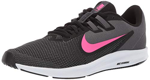 Nike Women's Downshifter 9 Sneaker, Black/Laser Fuchsia-Dark Grey, 8 Regular US