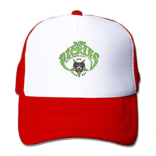 Pickles Fashion Basketball Red Mesh Caps Adjustable Snapback ()