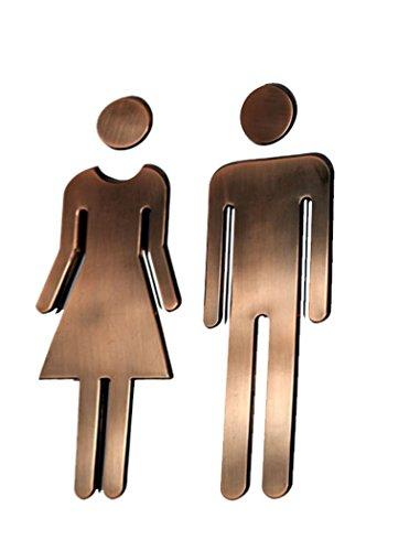 UPC 607052868079, Black Menba® 7.8 Inch Adhesive Acrylic Toilet Symbol Men's and Women's Bathroon Sign(Bronze)
