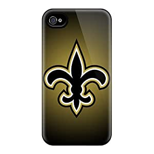Top Quality Case Cover For Iphone 4/4s Case With Nice New Orleans Saints Appearance