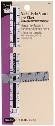 Dritz Buttonhole Spacer and Sizer for Sewing Products by Dritz   B00CI57HJC