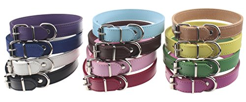 "TenCloud Pet Collar Set of 12 or 16 Adjustable ID Collars Leather for Puppy Medium Large Breed Dogs Neck 6""~18"""