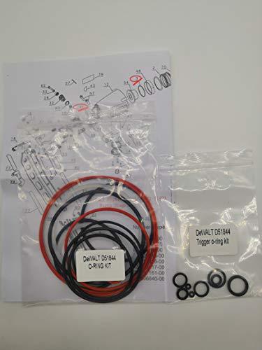 O-Ring Replacement Rebuild Kit for DeWALT D51844 Framing Nailer Universal and Trigger O-Ring Kit (Framing Nailer O-ring)