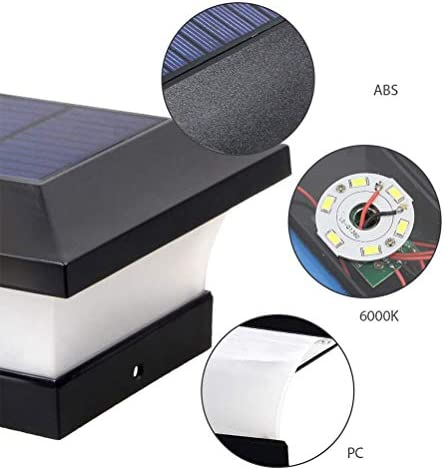 Gowsch Solar-Lampe für Außensäule von Licht und Solar-Pilierer, Solarleuchte