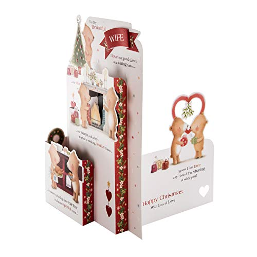 3D Pop-Out Design with Sweet Verse Christmas Card for Wife from Hallmark