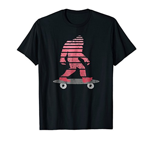 Bigfoot Skating T Shirt Funny Sasquatch Skateboard Longboard