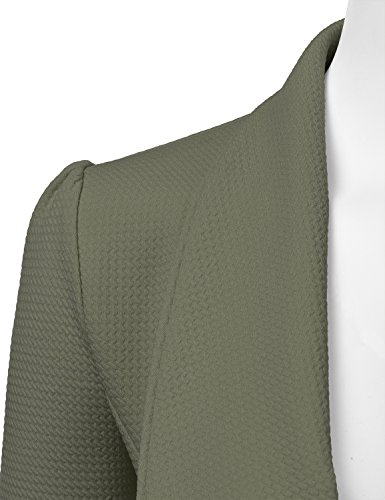 NINEXIS Womens Classic Draped Open Front Blazer Olive XL by NINEXIS (Image #3)