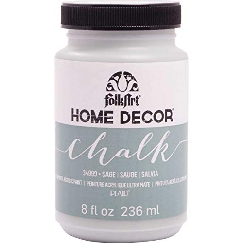 FolkArt 34999 Home Decor Chalk Furniture & Craft Paint in Assorted Colors, 8 Ounce, Sage ()