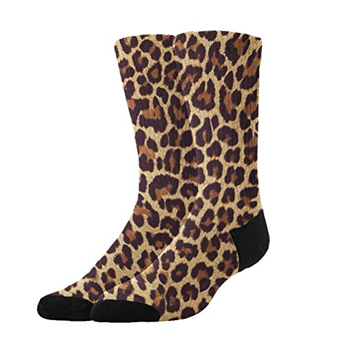 (Jinkela Womens Thigh High Cotton Socks Cool Cheetah Leopard Tube Stockings Above Knee Cosplay)