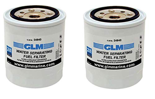 IE PARTS GROUP 2 Pack GLM Marine Fuel Water Separator 24940, Sierra 18-7845, Mercury 35-60494-1