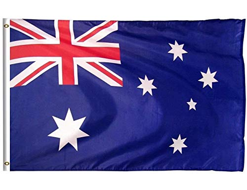 DFLIVE Australia Country Flag 3x5 ft Printed Polyester Fly Australia National Flag Banner with Brass Grommets