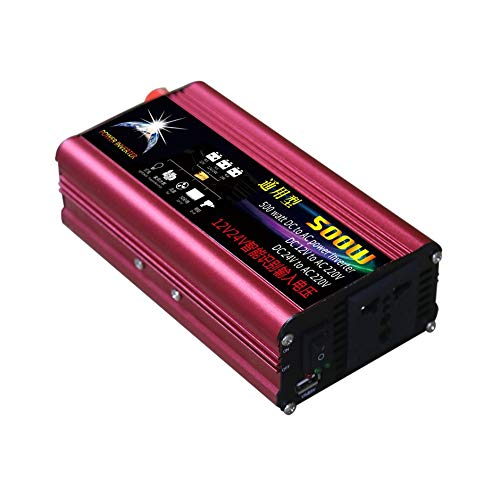 WEIHAN 500W Professional DC to AC Power Inverter 12V//24V to 220V Automotive Car Power Supply Inverter