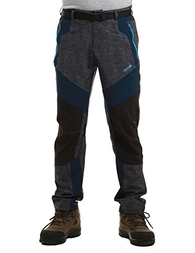 Makino Men's Lightweight Hiking Pants Boy's Quick Dry Trousers Casual Outdoor Camping Gray & Indigo - Shades Men Branded For