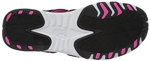 Ryka Womens Glance Athletic Sandal Black/Pink