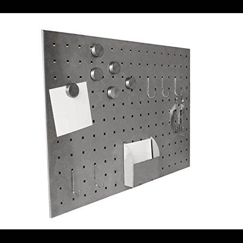 Magnettafel Edelstahl Tafel Board Pinnwand Ablage 50 x 35 cm