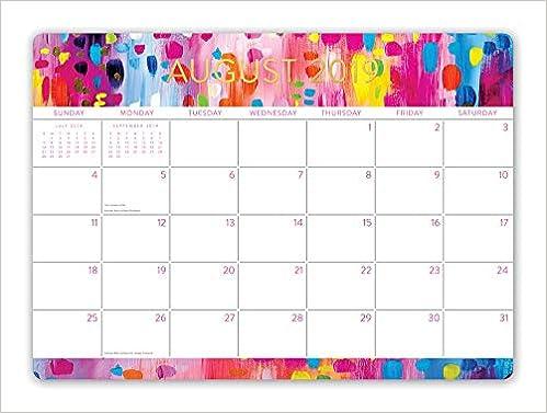 Orange Circle Studio 2020 Decorative Desk Blotter Calendar