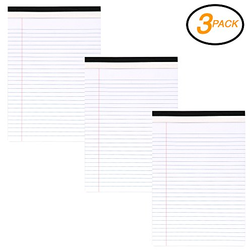 Emraw White Micro Perforated Edge Legal Ruled Universal 50 Sheets Letter Size Writing Pad- 50 Ct. 8.5