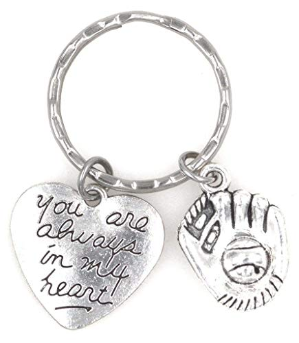 You are Always in My Heart Baseball Softball Mitt Glove Keychain - Pendant Bat Yankees