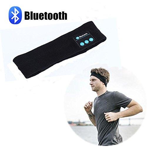 B2COOL Bluetooth Headband Sweatband Musicband Wireless Speakerphone Bluetooth Stereo Headphones Headset Sport Headband Running Yoga Headband (Buy Mullet Wig)