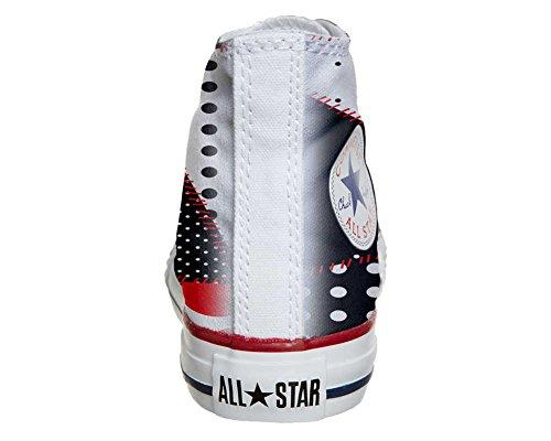 CONVERSE personalizzate All Star Sneaker unisex (Prodotto Artigianale) Continuity Texture