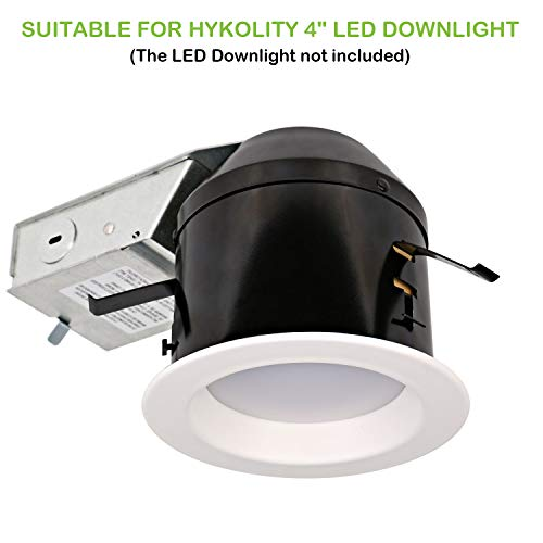 Hykolity 4 Inch Remodel Recessed Light Can Housing 12 Pack, Shallow Type Airtight IC Housing with TP24 Connector for LED Recessed Downlight Retrofit Kit,ETL Listed by hykolity (Image #2)