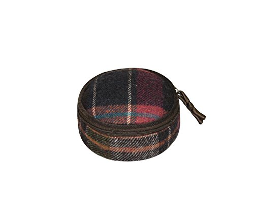 Terra Squared–rotonda sacchettino–lana tweed–Pewter–10x 5cms